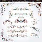 Elementi decorativi 4 di progettazione Fotografie Stock