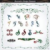 Elementi decorativi 6 di progettazione Fotografia Stock Libera da Diritti