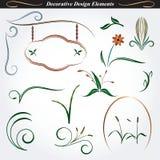 Elementi decorativi 9 di progettazione Immagini Stock
