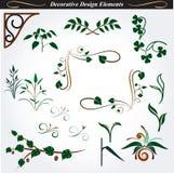 Elementi decorativi 14 di progettazione Fotografia Stock