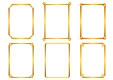 Elementi decorativi di progettazione di vettore: decorazione della pagina, fra Fotografie Stock