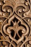 Elementi decorativi di scultura del legno Fotografie Stock