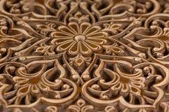 Elementi decorativi di scultura del legno Fotografie Stock Libere da Diritti
