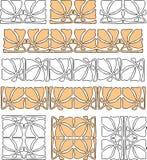 Elementi decorativi di vettore nello stile di stile Liberty Immagine Stock