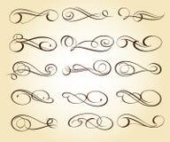 Elementi decorativi eleganti stabiliti Vettore Illustratio illustrazione vettoriale