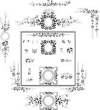 Elementi decorativi - retro stile d'annata Fotografie Stock Libere da Diritti
