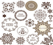 Elementi decorativi - retro stile d'annata Fotografie Stock