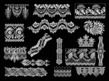 Elementi decorativi - stile del pizzo Immagini Stock Libere da Diritti