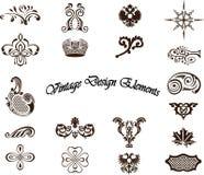 Elementi decorativi - stile reale immagine stock libera da diritti