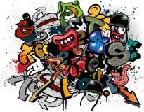 Elementi dei graffiti Immagini Stock Libere da Diritti