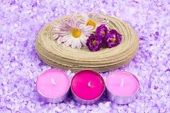 Elementi del bagno di aromaterapia Fotografia Stock Libera da Diritti