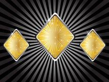 Elementi del casinò - rhombus Fotografie Stock Libere da Diritti