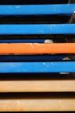 Elementi del chaise-longue della spiaggia fotografia stock