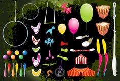 Elementi del circo. illustrazione vettoriale