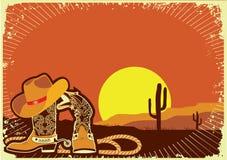 Elementi del cowboy Fotografia Stock Libera da Diritti