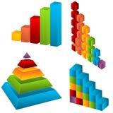 Elementi del diagramma Fotografia Stock Libera da Diritti