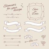 Elementi del disegno per progettazione nozze royalty illustrazione gratis