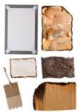 Elementi del documento e del cartone Fotografia Stock Libera da Diritti