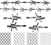 Elementi del filo spinato Immagine Stock