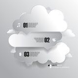 Elementi del fondo di infographics della nuvola di vettore illustrazione di stock