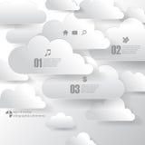 Elementi del fondo di infographics della nuvola di vettore Fotografia Stock