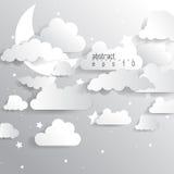 Elementi del fondo di infographics della nuvola di vettore Immagine Stock Libera da Diritti