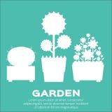 Elementi del giardino Fotografie Stock Libere da Diritti