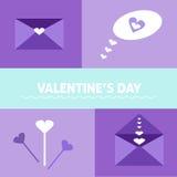 Elementi del giorno del ` s del biglietto di S. Valentino Immagine Stock Libera da Diritti