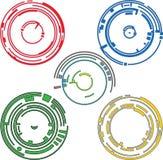 Elementi del grafico dell'anello Fotografia Stock