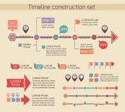 Elementi del grafico di cronologia di presentazione Fotografia Stock