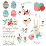 Elementi del grafico di Pasqua royalty illustrazione gratis