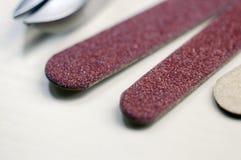 Elementi del manicure Fotografie Stock