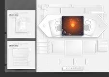 Elementi del menu del modello di progettazione del sito Web Fotografia Stock