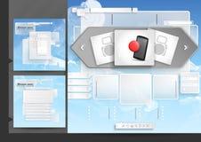 Elementi del menu del modello di progettazione del sito Web Immagini Stock