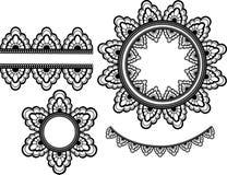 Elementi del merletto di vettore Fotografie Stock