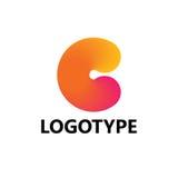 Elementi del modello di progettazione dell'icona di logo della lettera C Fotografie Stock Libere da Diritti