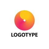 Elementi del modello di progettazione dell'icona di logo della lettera O Immagini Stock