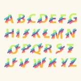 Elementi del modello di progettazione di logo di alfabeto della lettera Immagine Stock Libera da Diritti