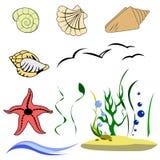 Elementi del mondo subacqueo Immagine Stock