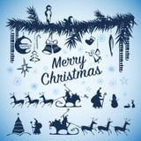 Elementi del Natale Immagini Stock