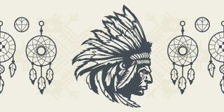 Elementi del nativo americano Immagine Stock Libera da Diritti