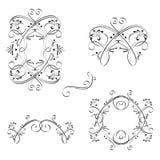 Elementi del ornamental dell'annata Fotografie Stock