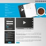 Elementi del sito Web/progettazione del modello per il vostro sito di affari Immagini Stock