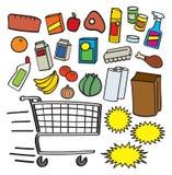 Elementi del supermercato Fotografia Stock