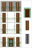 Elementi del terrazzo Immagine Stock