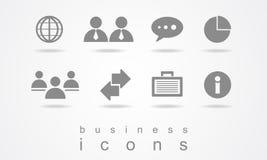 Elementi del web del bottone dell'icona di affari Fotografie Stock Libere da Diritti