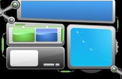 Elementi del webdesign di vettore Immagine Stock