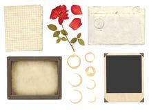 Elementi dell'accumulazione per scrapbooking Fotografie Stock