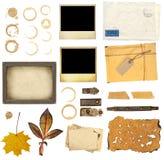 Elementi dell'accumulazione per scrapbooking Fotografia Stock