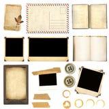 Elementi dell'accumulazione per scrapbooking Fotografie Stock Libere da Diritti